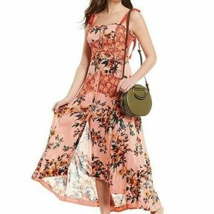 Free People Lover Boy Maxi Dress| Coral Tie Straps